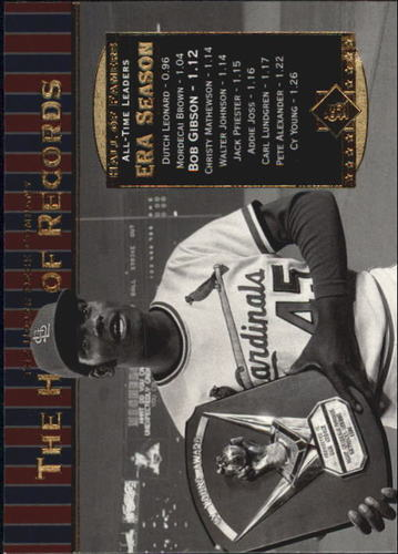 Photo of 2001 Upper Deck Hall of Famers #81 Bob Gibson HR