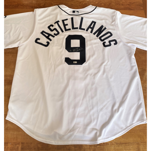 Photo of Nicholas Castellanos Autographed Detroit Tigers #9 Home Jersey (MLB AUTHENTICATED)