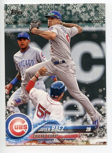 Photo of 2018 Topps Walmart Holiday Snowflake #HMW129 Javier Baez