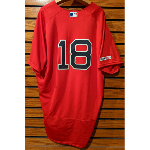Photo of Mitch Moreland #18 Game Used Home Alternate Red Jersey