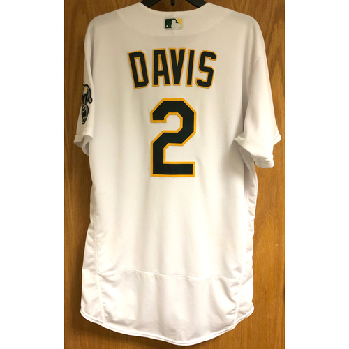 Photo of Game-Used 2020 Jersey - Khris Davis (9/8/20 - HR #1; Career #218)