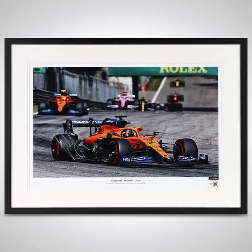 Photo of Carlos Sainz Jr 2020 Framed Signed Photo - Italian GP