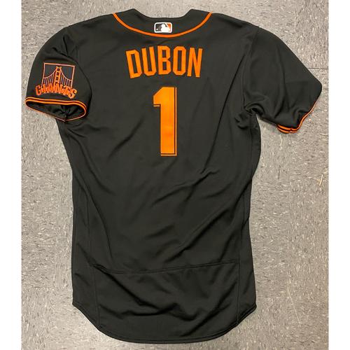 Photo of 2020 Team Issued Spring Training  Jersey - #1 Mauricio Dubon - Size 44