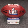 Red Cross - Super Bowl 52 game used 2nd half k ball Eagles vs. Patriots (February 4 2018)