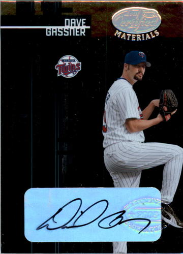 Photo of 2005 Leaf Certified Materials #209 Dave Gassner NG AU RC