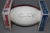 NFL - RAVENS JUSTIN TUCKER SIGNED PANEL BALL