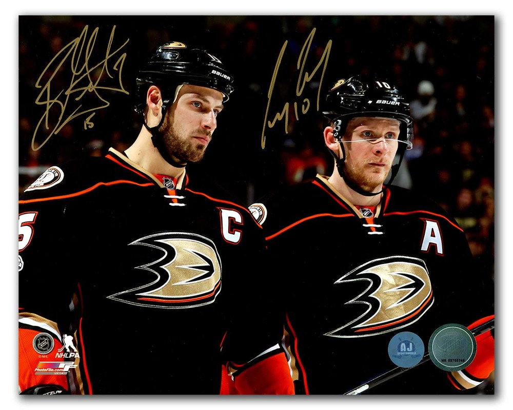 Ryan Getzlaf & Corey Perry Anaheim Ducks Dual Signed Franchise Stars 8x10 Photo