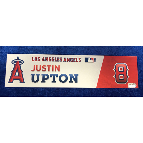 Photo of Justin Upton Game-Used 2018 Locker Tag