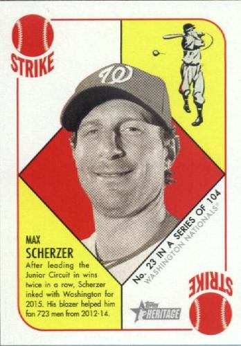 Photo of 2015 Topps Heritage '51 Collection #23 Max Scherzer