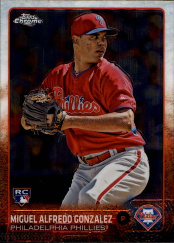 Photo of 2015 Topps Chrome #131 Miguel Alfredo Gonzalez RC