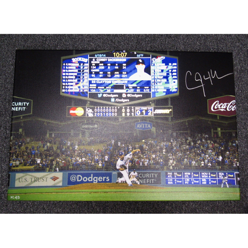 Photo of Kershaw's Challenge: Clayton Kershaw Autographed Photo Canvas from No Hitter