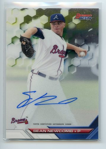 Photo of 2016 Bowman's Best Best of '16 Autographs #B16SN Sean Newcomb