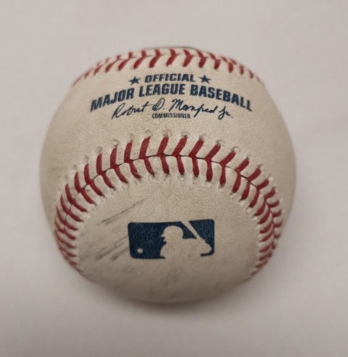 Photo of Authenticated Game Used Baseball - Eduardo Nunez doubles against Marco Estrada (April 26, 2018; Top 4).