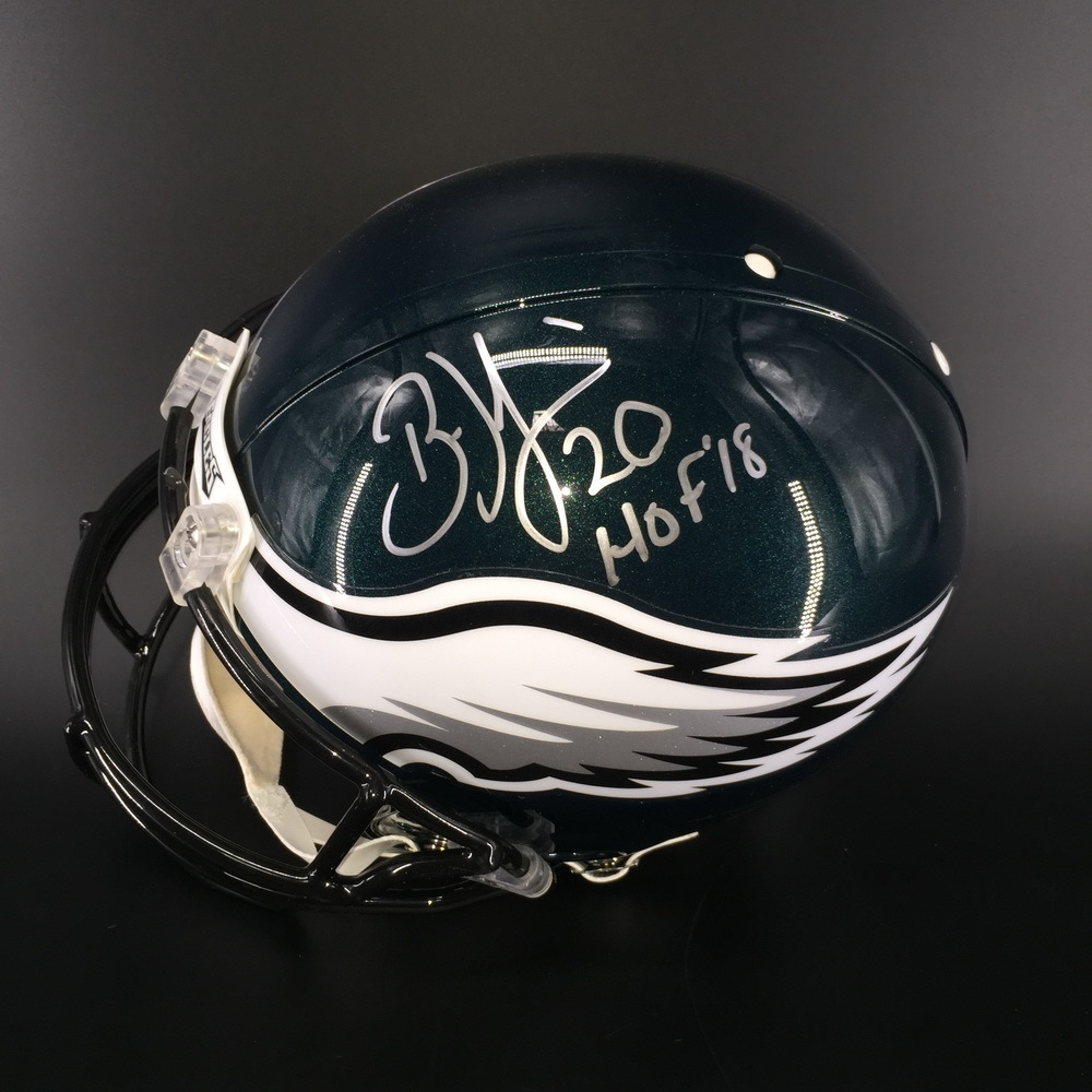 HOF - Eagles Brian Dawkins Signed Proline Helmet