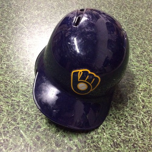 Photo of Christian Yelich 2018 Team-Issued Batting Helmet