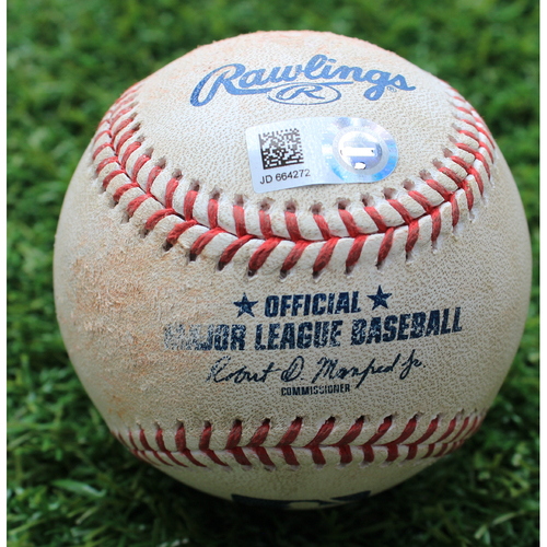 Photo of Game-Used Baseball: C.J. Cron 556th Career Hit (MIN @ KC - 6/22/19)