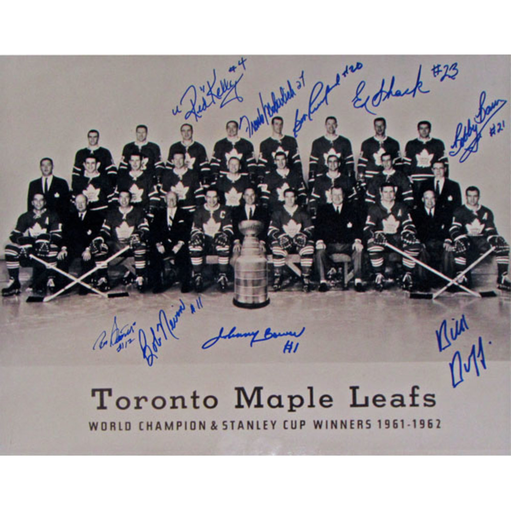 1962 Toronto Maple Leafs Autographed 11X14 Photo (Signed by 9)