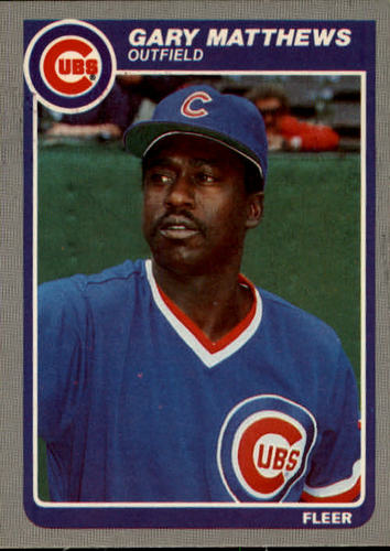 Photo of 1985 Fleer #61 Gary Matthews
