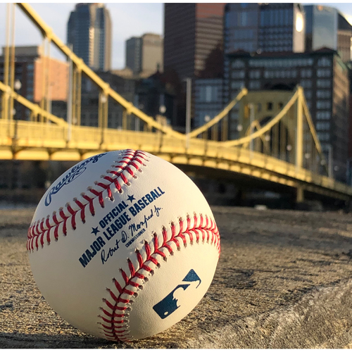 Photo of Game-Used Baseball: 5/26/2019 - B9, Adam Frazier - Single, Gregory Polanco - Double, Starling Marte - Flyout, Josh Bell - Groundout
