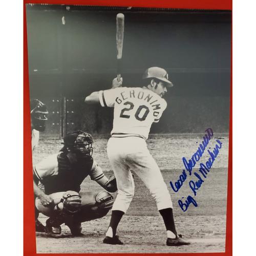 "Photo of Cesar Geronimo Autographed Photo ""Big Red Machine"""