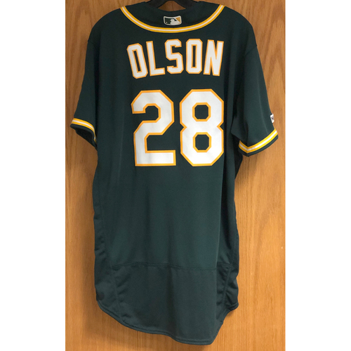 Photo of Game-Used Jersey - Matt Olson: HR #26 - 8/20/19