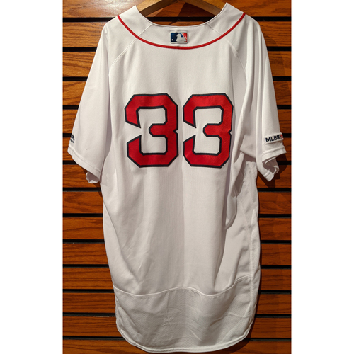 Photo of Coach Jason Varitek #33 Game Used Home White Jersey