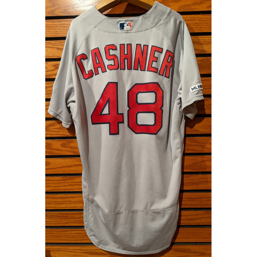 Photo of Andrew Cashner #48 Game Used Road Gray Jersey