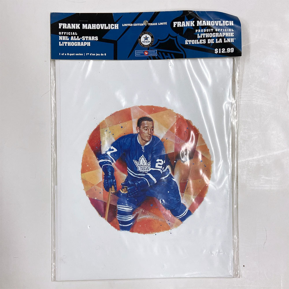 Frank Mahovlich Canada Post Lithograph & Stamp - In Original Packaging