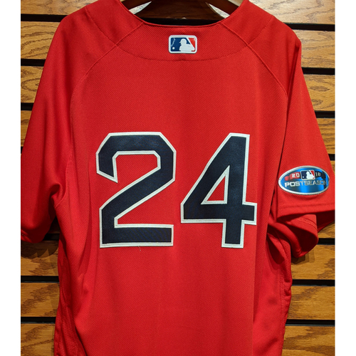 Photo of 2018 Postseason David Price #24 Team Issued Red Home Alternate Jersey