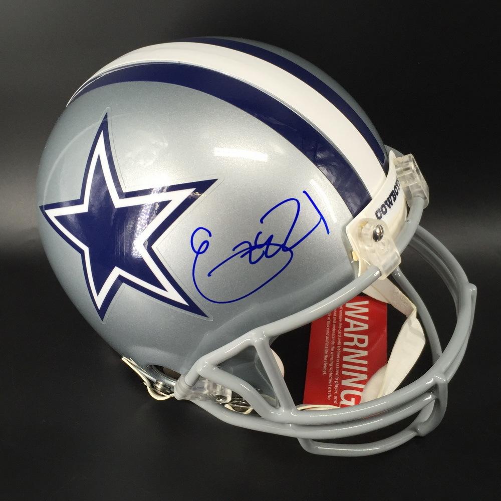 Red Cross - Cowboys Ezekiel Elliott Signed Proline Helmet