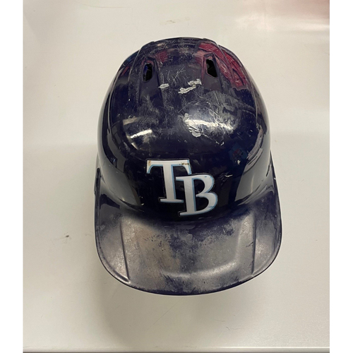 Photo of Game Used Home Run Batting Helmet: Kevin Kiermaier - July 7, 2021 v CLE (See Description for Details)