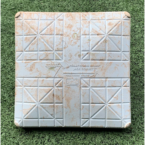 Photo of Game Used Base - 1st Base, Innings 7-9 - Lindor Grand Slam, Alonso HR (37), Final Home Game of 2021 - Mets vs. Marlins - 9/30/21