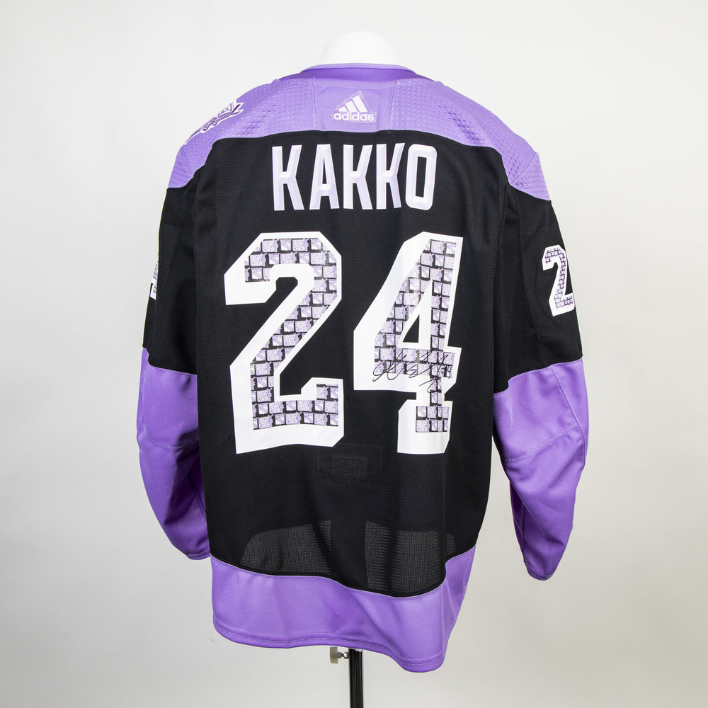 Autographed #24 Kaapo Kakko Hockey Fights Cancer jersey worn during warm-ups - New York Rangers