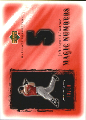 Photo of 2001 Ultimate Collection Magic Numbers Game Jersey Red #MNJB Jeff Bagwell