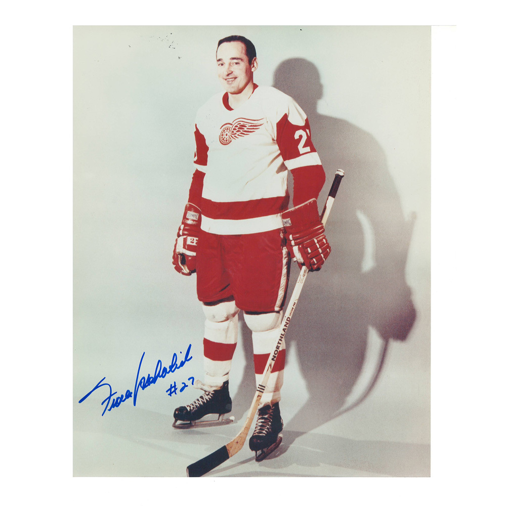 FRANK MAHOVLICH Signed Detroit Red Wings 8 X 10 Photo - 70084