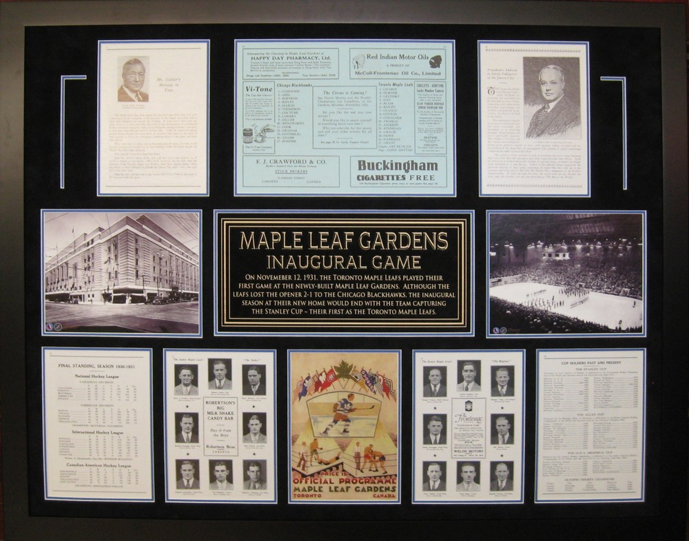 Maple Leaf Gardens Inaugural Game Program Collage