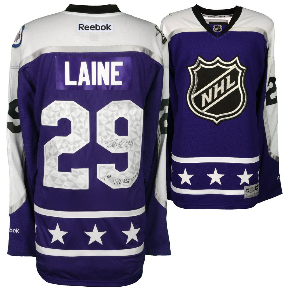 Patrik Laine Winnipeg Jets Autographed 2017 NHL All-Star Game Central  Division Reebok Premier Jersey with 1st NHL ASG 1 29 17 Inscription 93a08811c