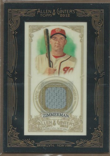 Photo of 2012 Topps Allen and Ginter Relic Ryan Zimmerman
