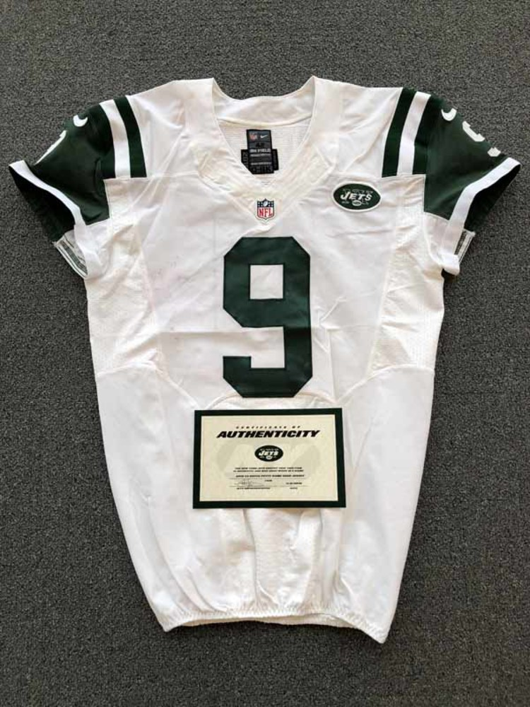 NFL Auction | New York Jets - 2016 #9 Bryce Petty Game Worn Jersey
