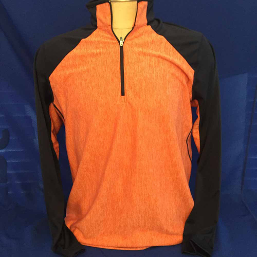 Photo of UMPS CARE AUCTION: Antigua Playmaker Half-Zip Pullover, Navy and Orange, Size Large