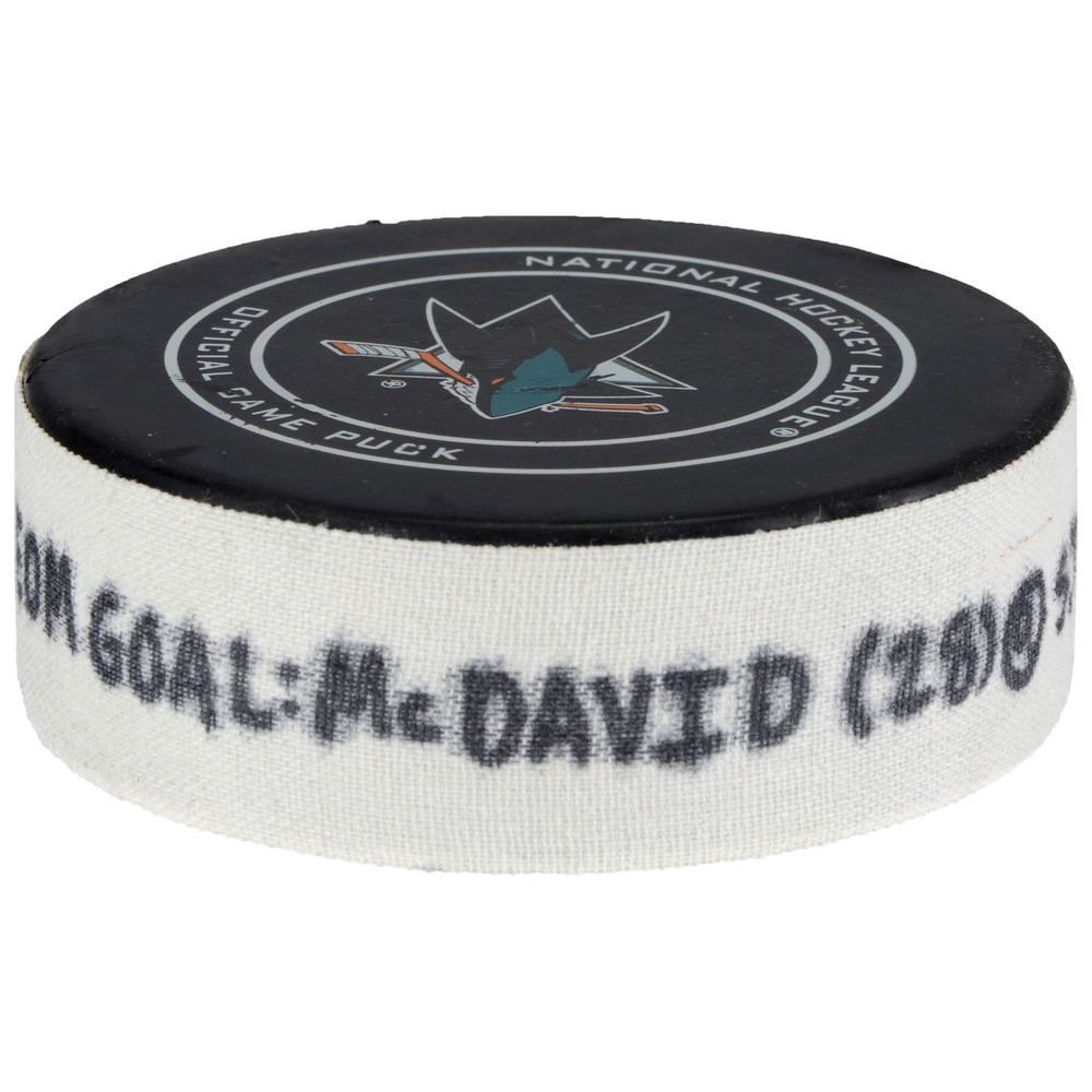 Connor McDavid Edmonton Oilers Goal Scored Puck from February 27, 2018 vs. San Jose Sharks