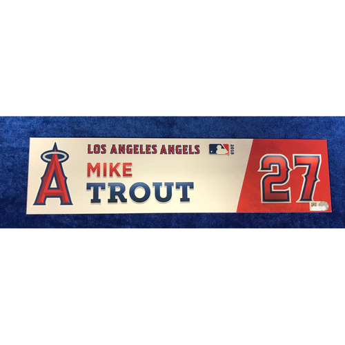 Photo of Mike Trout Game-Used 2018 Locker Tag