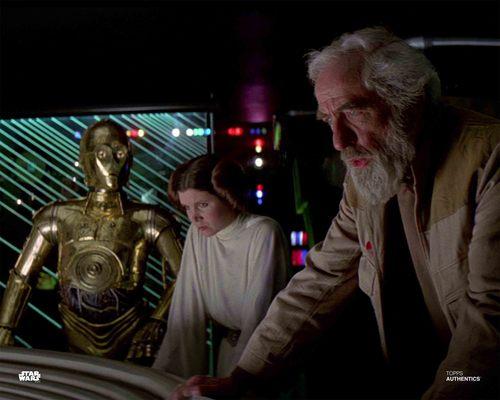 Princess Leia Organa, General Jan Dodonna and C-3PO