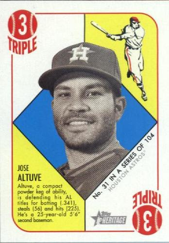 Photo of 2015 Topps Heritage '51 Collection #31 Jose Altuve