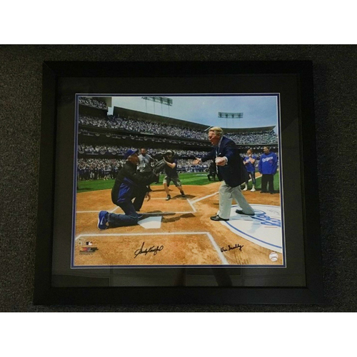 Photo of Kershaw's Challenge: Vin Scully and Sandy Koufax Signed Photo from Opening Day - Scully autograph is not MLB Authenticated