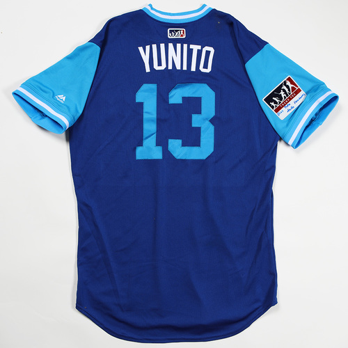 """Photo of Lourdes """"Yunito"""" Gurriel Jr Toronto Blue Jays Game-Used Jersey 2018 Players' Weekend Jersey"""