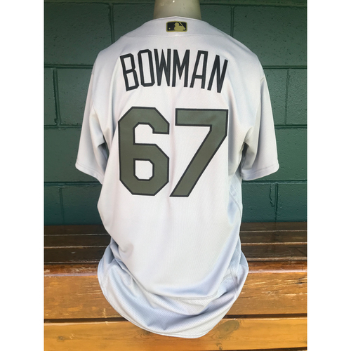 Photo of Cardinals Authentics: Team Issued Matt Bowman Memorial Day Jersey