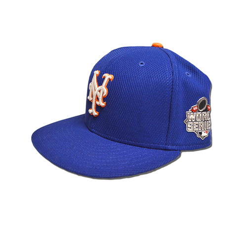 Photo of Pat Roessler #6 - Game Used Blue Alt. Road Hat - Worn 2015 World Series Game 1 - Mets vs. Royals - 10/27/15