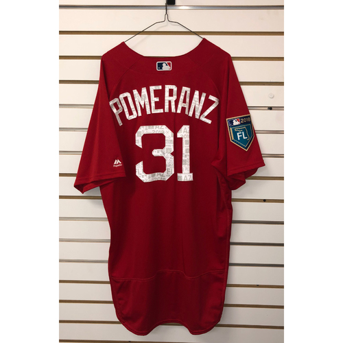 Photo of Drew Pomeranz Team-Issued 2018 Spring Training Jersey