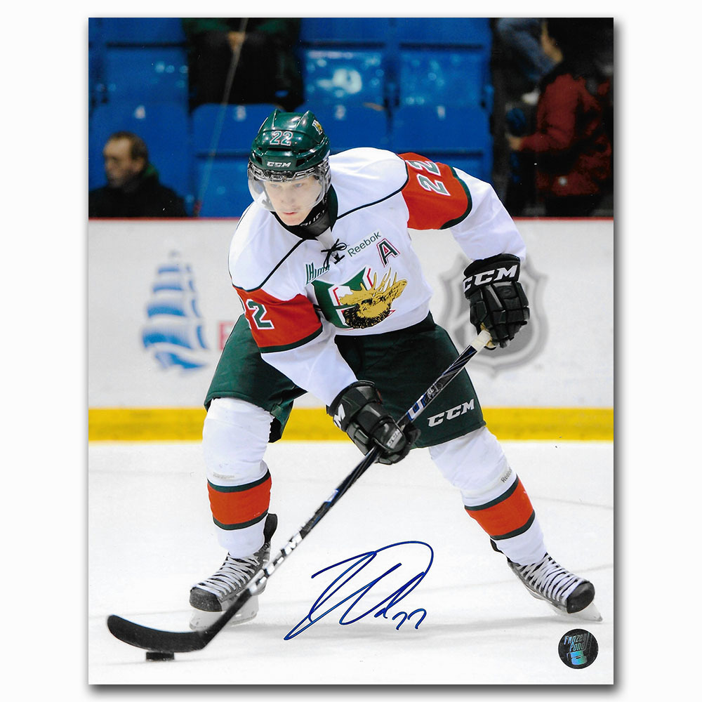 Nathan MacKinnon Autographed Halifax Mooseheads QMJHL 8X10 Photo